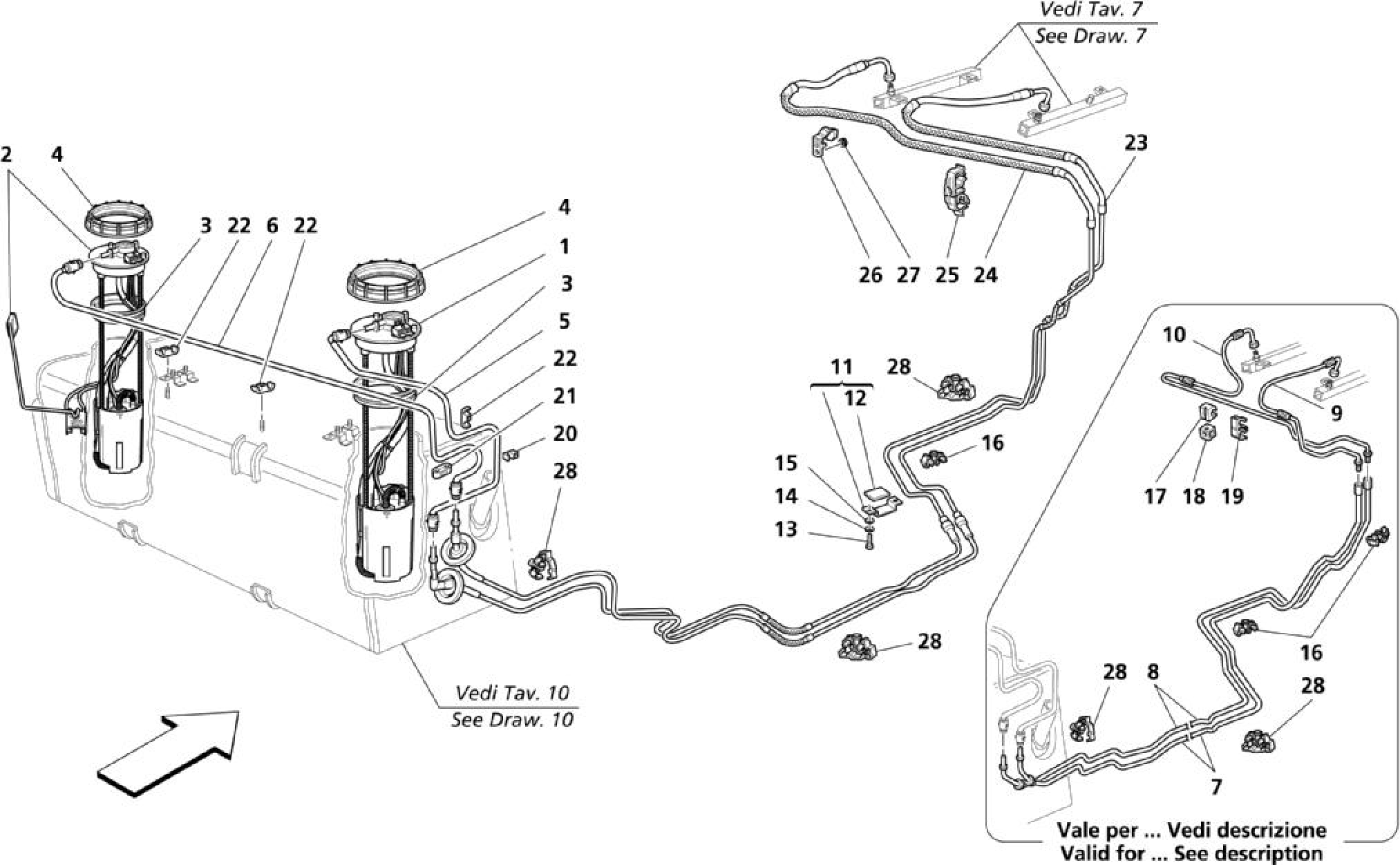 Maserati Maserati Coupe Fuel Pump And Pipes