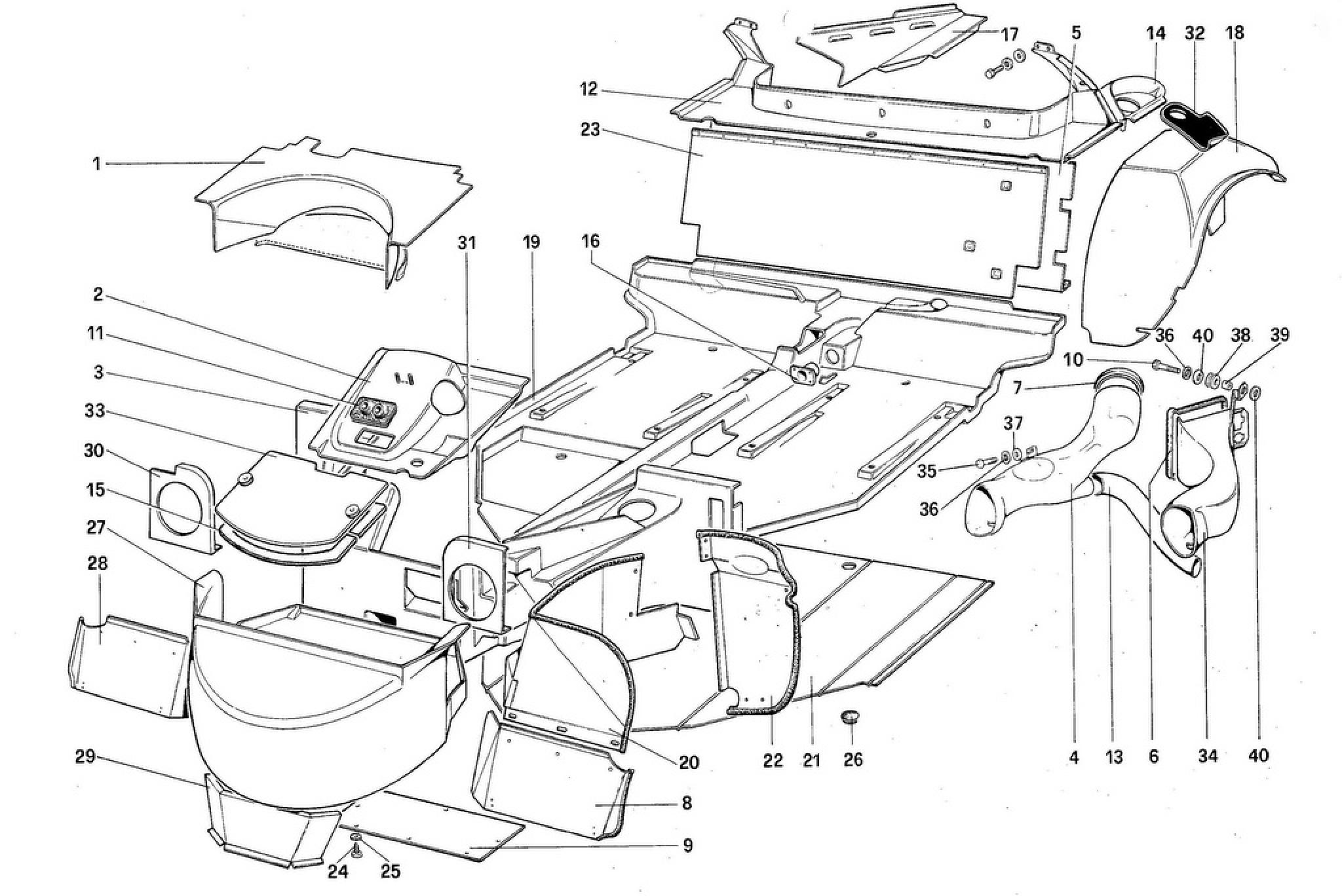 Ferrari 308QVUS BODY SHELL