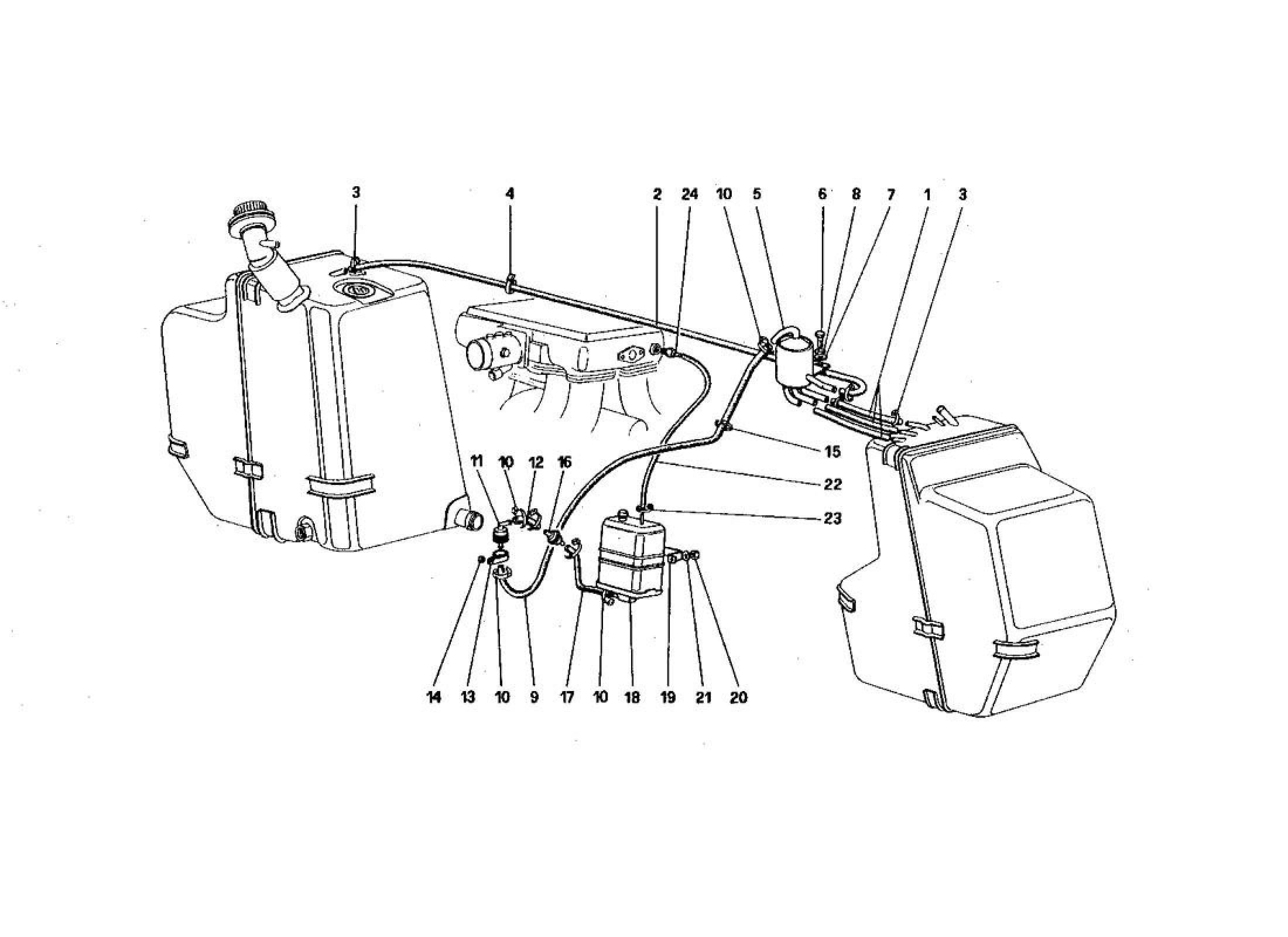 Ferrari 328 (1985) ANTIEVAPORATIVE EMISSION CONTROL SYSTEM
