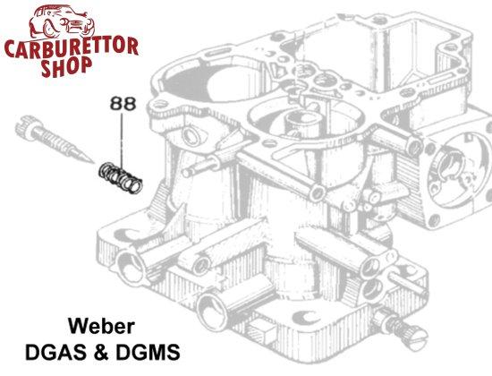 Weber DGAS and DGMS carburetor parts