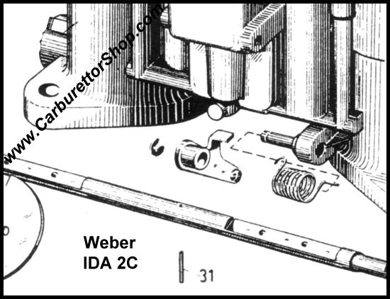 (31) Spindle Roll Pin for Weber IDA 2C carburetors