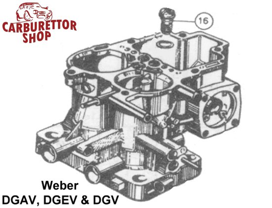 (16) Power Valve on Weber DGAV DGEV and DGV carburetors