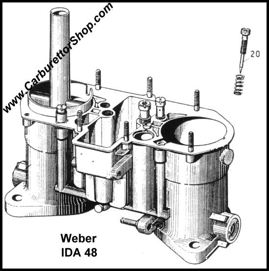 (20) Mixture Screw for Weber IDA 2C carburetors