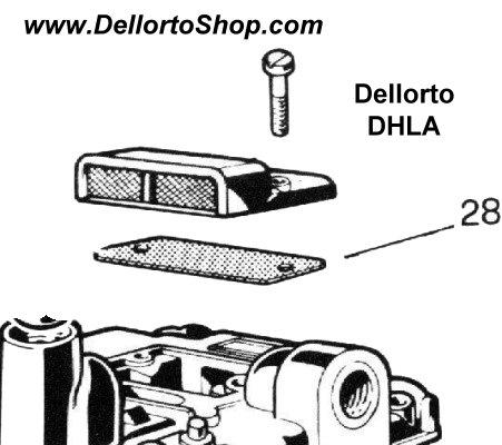 (28) Jet Cover Gasket for Dellorto DHLA TURBO carburetors