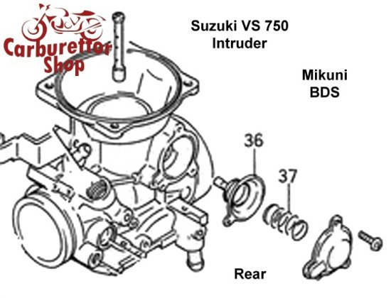 (R36 + R37) Air Cut-Off Valve for Mikuni carburetors for