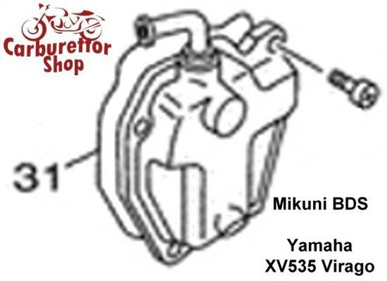 (31) Rubber Float Bowl Gasket for Mikuni BDS carburetors