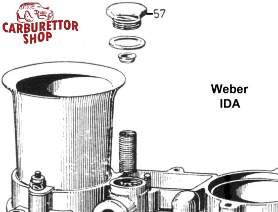 (57) Fuel Filter Cover for Weber IDA 2C carburetors