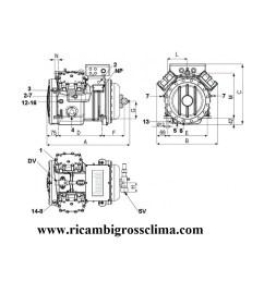 semi hermetic compressor frascold s1556y 15hp rh ricambigrossclima com semi hermetic compressor parts semi  [ 1000 x 1000 Pixel ]