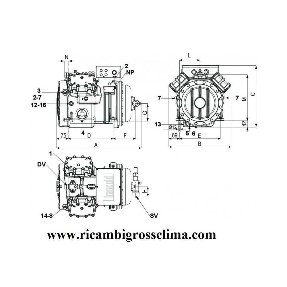 medium resolution of semi hermetic compressor frascold s1556y 15hp rh ricambigrossclima com semi hermetic compressor parts semi