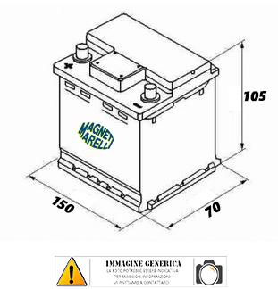 Battery Magneti Marelli AGM 8AH YT9B-BS YAMAHA YP MAJESTY