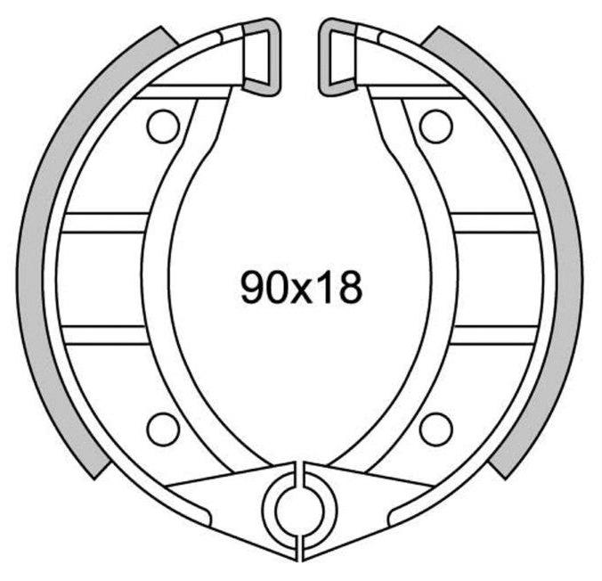 GANASCE FRENO POSTERIORE NEWFREN GF.0151 GARELLI BASIC 50