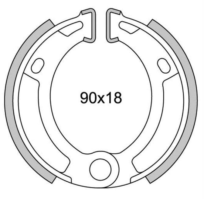 Rear brake jaws newfren gf.0210 garelli Basic 50/FORMUNO