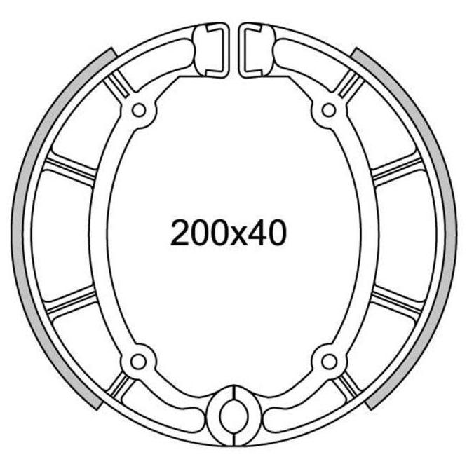 GANASCE FRENO POSTERIORE NEWFREN GF.1204 YAMAHA XVS 650 A
