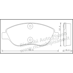Serie Pastiglie Anteriori Galfer Fiat Stilo 2.4 20V
