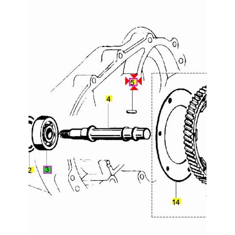 Rullino Perno Asse Ruota Ingranaggio Vespa Px Cosa 125 150