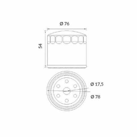 Oil Filter Moto Guzzi California Custom Abs 1400 2012-2013