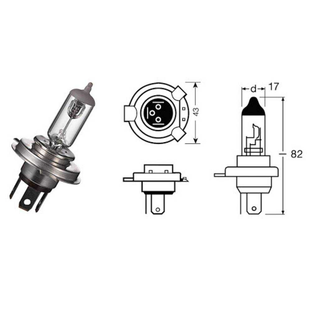 404205055#59 Lamp Hs1 X-Racer 12V-35 / 35W / Px43T Kymco