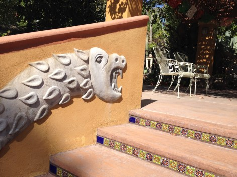 """Plume Serpent, Private residence, 2003, Cement Relief, 23"""" x 9' x 1"""""""