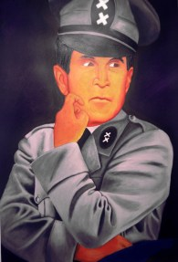 "Little Dictator, 2007, Caran d'ache, 40"" x 30"""