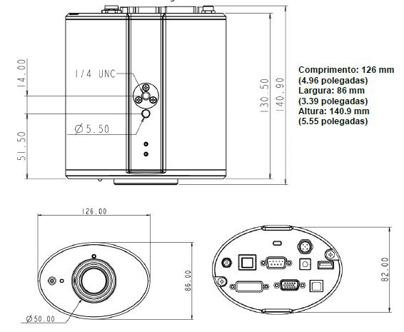 Vizualizador de Tecto Alta Definição CL510 Lumens na Loja