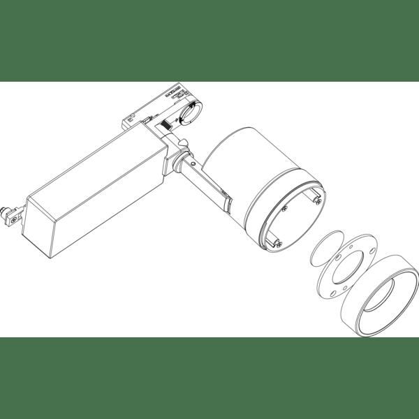 Luz para Comércio LED ION103 Branco Frio na Loja Ricardo e