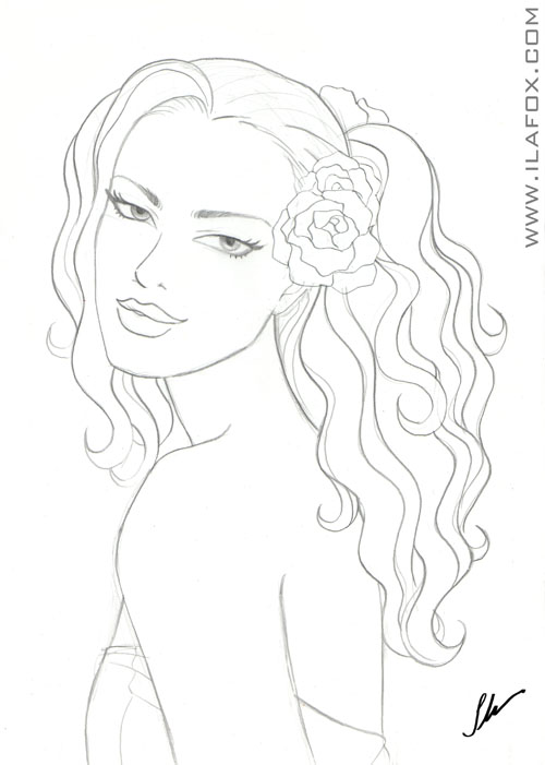 mermaid mangà¡ Colouring Pages