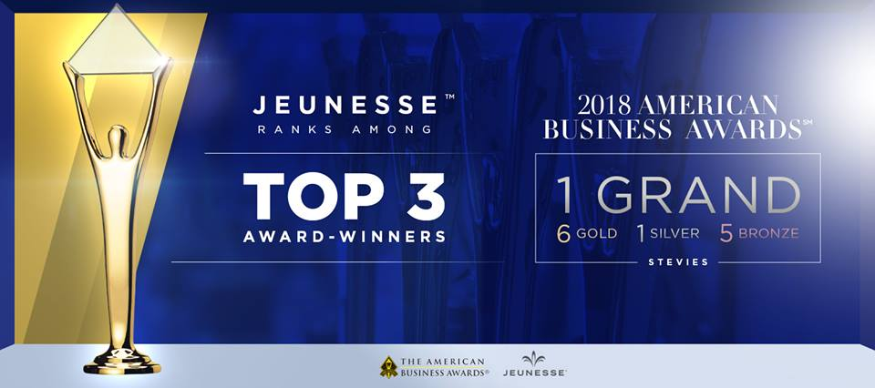 jeunesse american business award 2018