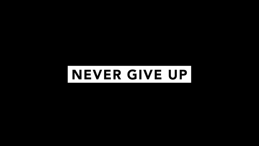 never give up network marketing