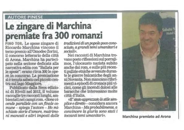Premio Omodeo Zorini - Arona - Riccardo Marchina