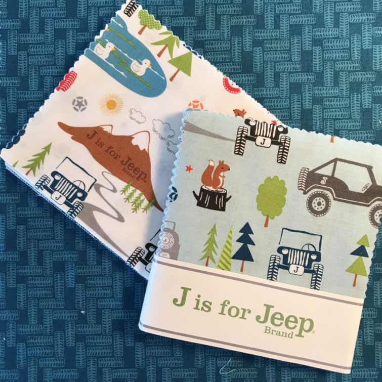 J is for Jeep fabric for Riley Blake