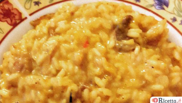 Ricetta Risotto zucca e zenzero al Castelmagno e mandorle