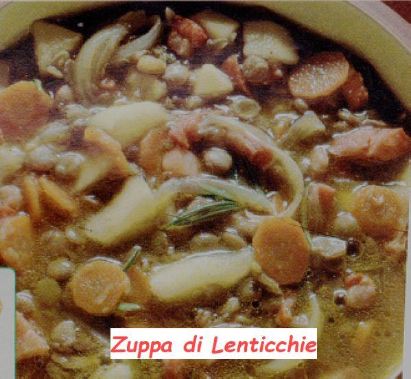 Ricetta di Cucina Zuppa di Lenticchie