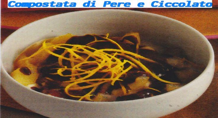 Ricetta di Cucina Compostata di Pere con cioccolato
