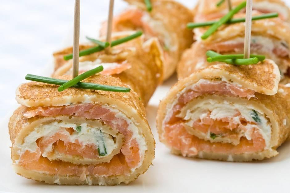 Ricetta di crepes al salmone