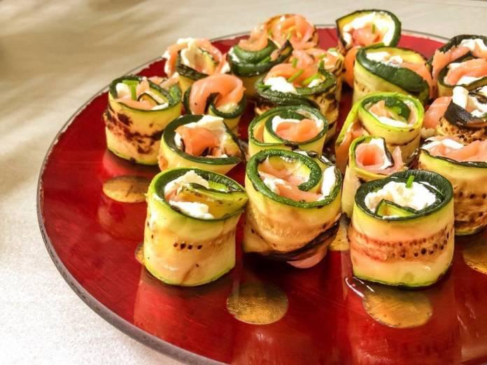 Rotolini di zucchine farcite