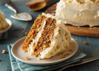torta di carote e nocciole alla crema di ricotta