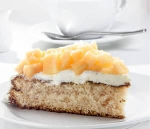 torta integrale con ricotta e melone