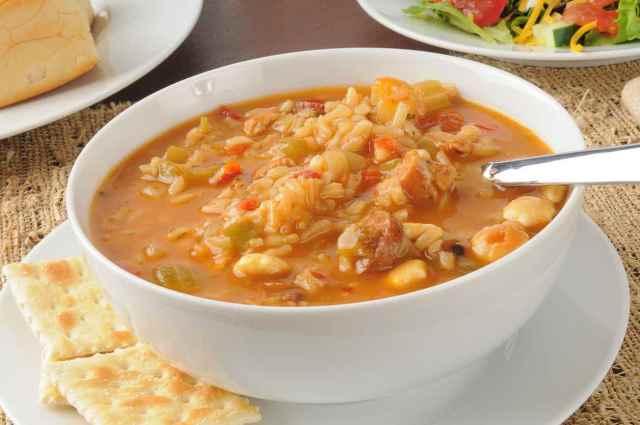minestra riso e pollo