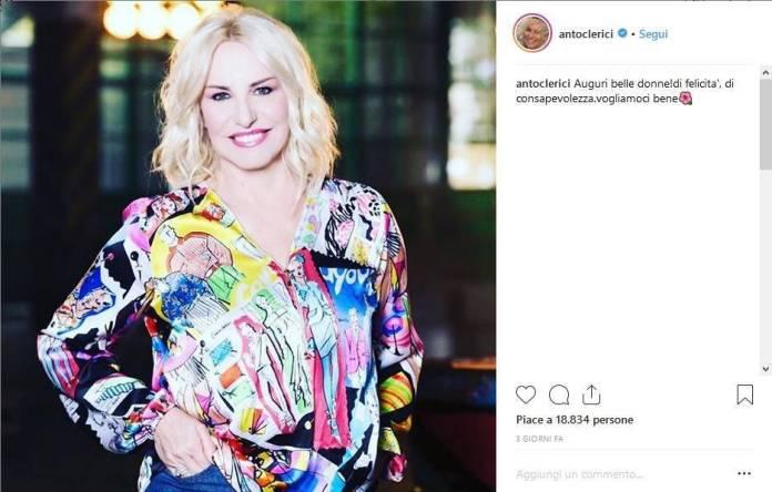 Antonella Clerici celebra la Festa della Donna