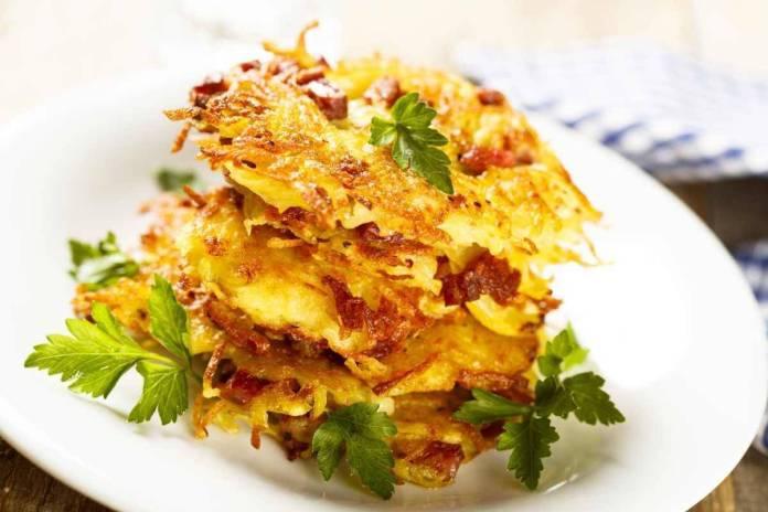 Rosti di patate e cipolle