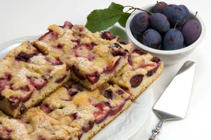 Torta alle Prugne con Ricotta e Farina di Riso - Ricettasprint.it