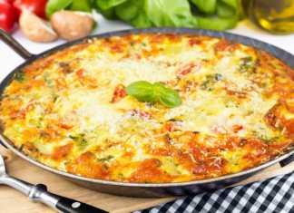 Frittata di pasta al pesto - ricettasprint.it