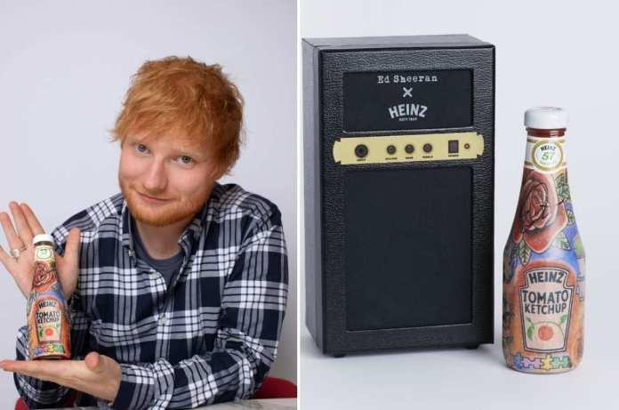 Ed Sheeran ketchup Heinz
