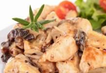 Straccetti di pollo con funghi e pomodorini
