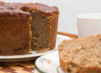 Torta con farina di castagne e ricotta
