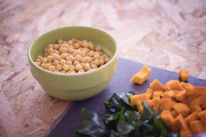 pasta alla crema di zucca e ceci con pecorino - ricettasprint