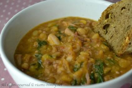 Zuppa di polpo, patate e ceci bimby 1
