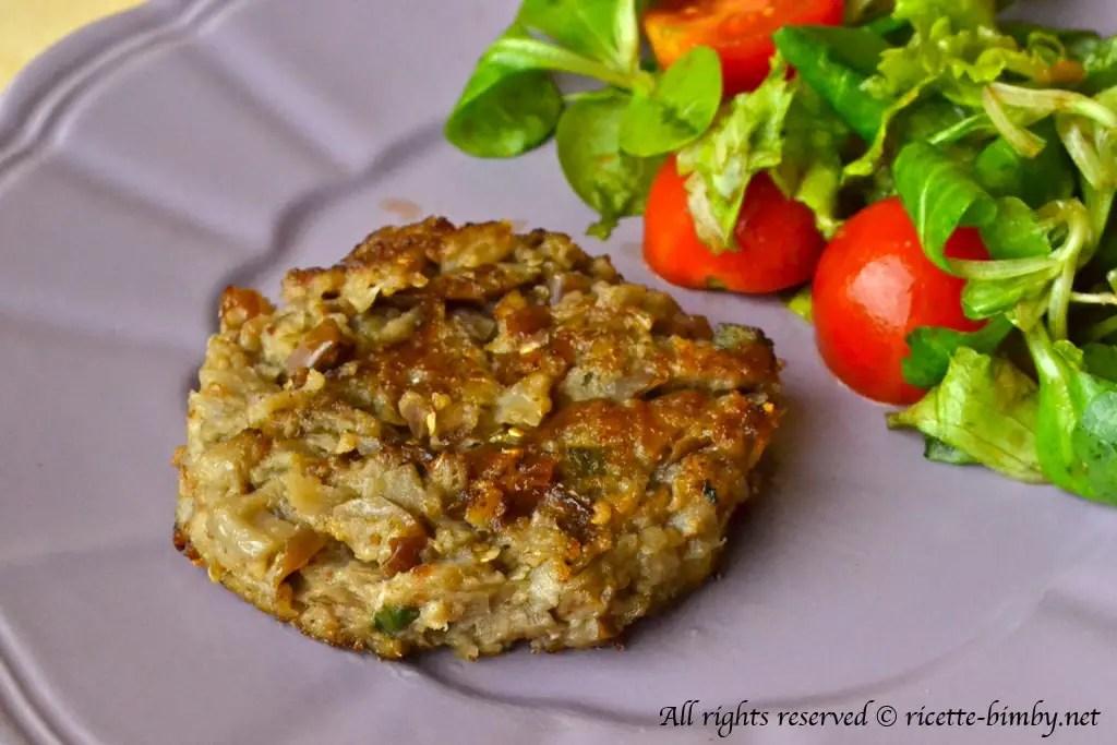 Burger vegetariano di melanzane Bimby  Ricette Bimby