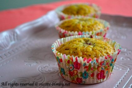 Muffin ai lamponi e semi di papavero bimby 1