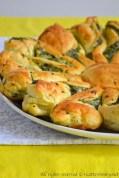 Torta fiore con spinaci e ricotta bimby